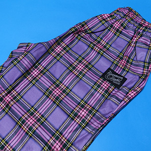 Check Belt Pants(Purple)