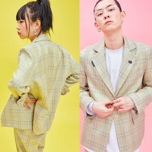 19S Check Jacket (Green)