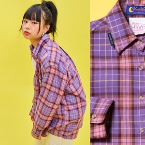 19S Check shirt (Purple)