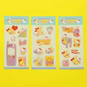 [HELLO KITTY Loves NEONMOON] Glitter Epoxy Sticker