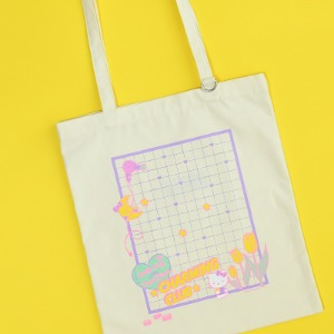 [HELLO KITTY Loves NEONMOON] Illust Tote Bag