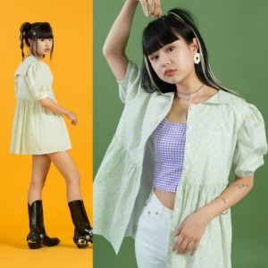 Baby Doll Shirt Onepiece (flower)