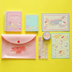 [HELLO KITTY Loves NEONMOON] Stationery Set