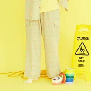 [ND.] 20SM Check Pants (Yellow)